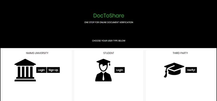 DocToShare: Document Verification